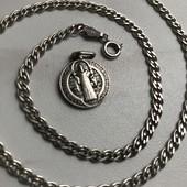 Цепочка+ладанка серебро 925