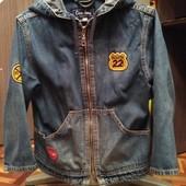 Джинсовая куртка ветровка 104 размер