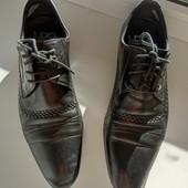Мужские фирменные туфли из натуральной кожи. Стелька 27.5см. Не секонд!