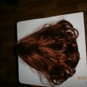 Шиньон- заколка из искусственных волос в лоте с бронзовым отливом