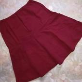 Красивая юбка цвета марсала от M&S! 12р. Коттон 100%!Не секонд. В идеале.