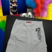 Белые шорты на худенького мальчика DenimCo
