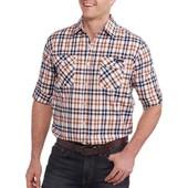 Мужская рубашка-тениска с Walmarta,подворот рукава! пог=59см