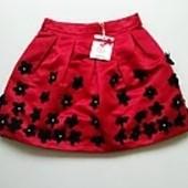 Шикарная юбка с 3D цветами от to be too, Италия, раз.евро TG.36