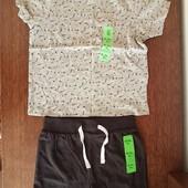 Комплект Primark мальчик 1.5-2 года (шортики и футболочка)