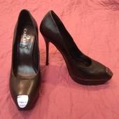Единственные! Натуральная кожа!Известный бренд Carlabei! Шикарный дизайн! туфли р. 38