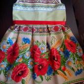 Детское платье - модный этностиль! 100% хлопок