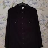 Стильная черная вельветовая рубашка ! УП скидка-10%