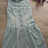 Платье джинсовое uk 8.S. New look. Хорошее состояние