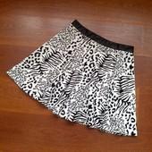 Сегодня юбки! 34-36р. Белая юбка с бархатным рисунком River Island
