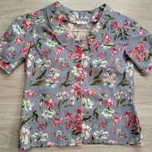 Красивая новая коттоновая блуза р.14-16