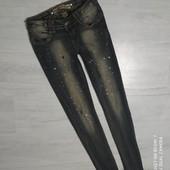 Дорогие мега стильные джинсы р.42/44 в хорошем сост