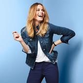 Крутая джинсовая куртка от тсм Tchibo Германия,38 евро=44/46 наш