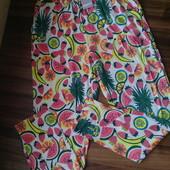 легкие штаны на жару (ткань не мнется) 95% вискоза р. 146/152