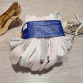 Германия!!! Лот из 7 коттоновых носочков нежной расцветки с фламинго! 19-22 размер!
