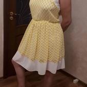 Красивенное платье шифон р.44-46-48