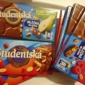 Шоколад Studentska Чехия 180г. Вкусы на выбор