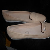 Туфельки-балетки с лаковой защитой носочка.Много размеров.