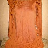 Натуральный шёлк и вискоза.блузка malene birger пог 60