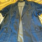 Стильный летний пиджак, лёгкий джинс. Новое состояние.