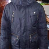 тёплая зимняя куртка на мальчика7-8лет