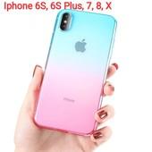 Большой выбор для Iphone, Xiaomi!3Д эффект, прозрачный с цветным ободком, градиентный силикон