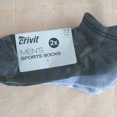 Тренировочные укороченные мужские носки от Crivit, 2 пары, р 43-44