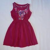 Коттонове плаття з вишивкою