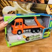 Машина грузовик металлопластик. Инерционная со звуковыми эффектами