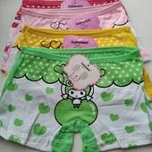 Трусики - шортики для девочки , одни на выбор,можно докупить.