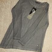 женская стильная футболка, длинный рукав, от Blue Motion.Коллекция Halle Berry