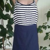 Фирменное женское комбинированное платье!!!
