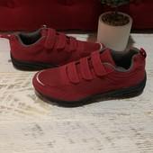 Легкі кроссовки із еко замші і текстилю,від Geka,розмір 40
