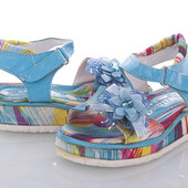 Детские яркие сандали на липучке .летние сандалии для девочки
