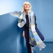 ☘ нюанс Мягкая легкая шаль от Tchibo (Германия), размеры: 200 на 100 см