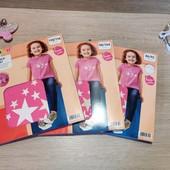 Распродажа!!! Германия!!! Лот из классной коттоновой футболки для девочки! 98/104 или 110/116!