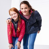 Куртка для девочки стеганная двусторонняя от тсм Tchibo. Размер примерно 110/116