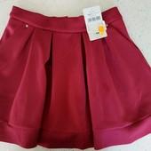 Фирменная юбка с карманами плотная ткань, размер 164