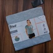 спортивная меланжевая футболка Crivit р.S с дышащими зонами