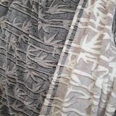 Мягкий плед из микрофибры евро размер 200х230 ,,Снежок,, Один на выбор. Турция.