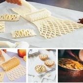 Ролик для теста. Создание сеточки для пирогов, булочек и др. кондитерских изделий