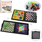 Игра настольная 5в1 (шашки, шахматы, мини-шахматы, уголки, Лудо)