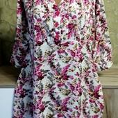 Собираем лоты!! Фирменная блуза на пышную красу, размер 3xl(маломерит)