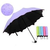Новинка.Механический зонт с появляющимся рисунком при намокании.