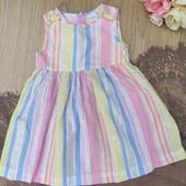 красивое нарядное платье для девочки 1-1.5 года, идеальное состояние