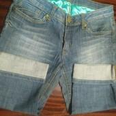Бриджи фирменные джинсовые размер М