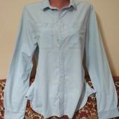 джинсовая мужская рубашка р. М