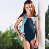 ☘ Слитный купальник для девочки от Tchibo(Германия), размер:110-116