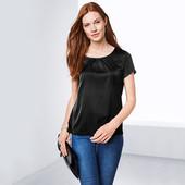 Шикарная блуза из комбинированных тканей от ТСМ Tchibo Германия размер евро 36\38 (укр 42/44)