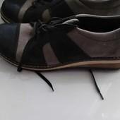 Туфли на шнурках. Удобные. Кожа